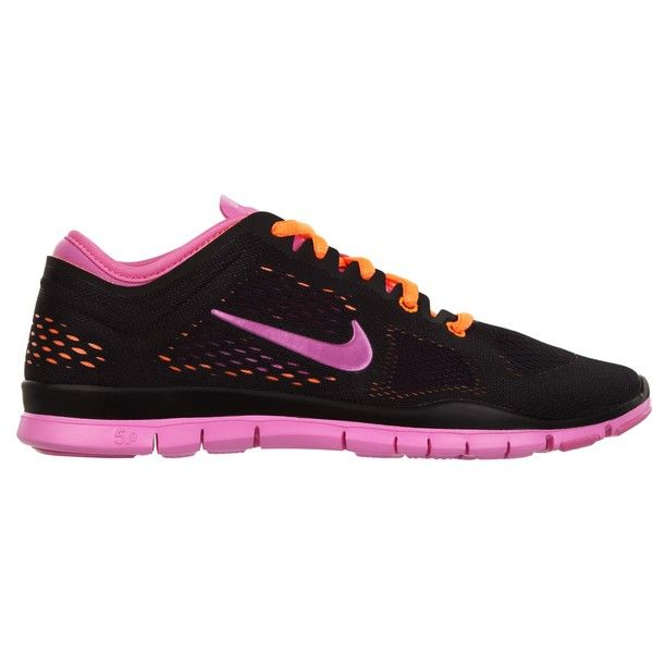 Nike Free 5.0 TR Fit 4 (380 BRL) ❤ liked on Polyvore featuring shoes, athletic shoes, performance shoes, lightweight shoes, mesh shoes, light weight running shoes, neon running shoes and mesh running shoes