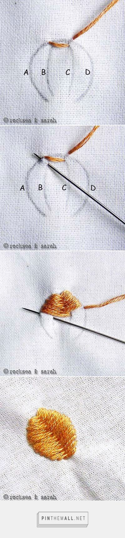 flat stitch » Sarah's Hand Embroidery Tutorials - created via https://pinthemall.net