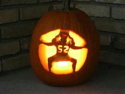 Green Bay Packers pumpkin