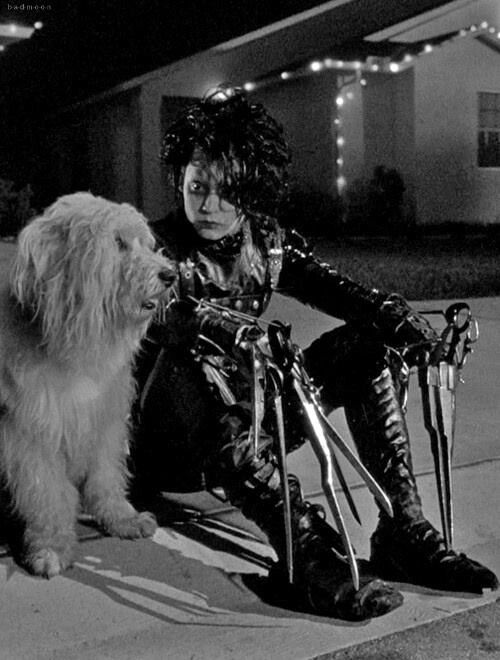 Edward Scissorhands, johnny depp, tim burton, film, 1990s, 90s, 1990