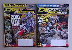 Dirt Rider Magazine Lot Nov Dec 2009   childsplay1 Ebay Seller