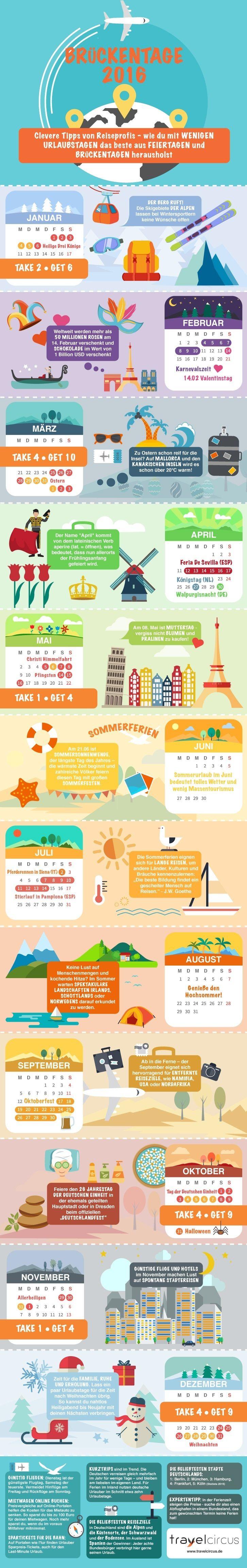 Brückentage 2016 - Tipps von Reiseprofis für die Urlaubsplanung
