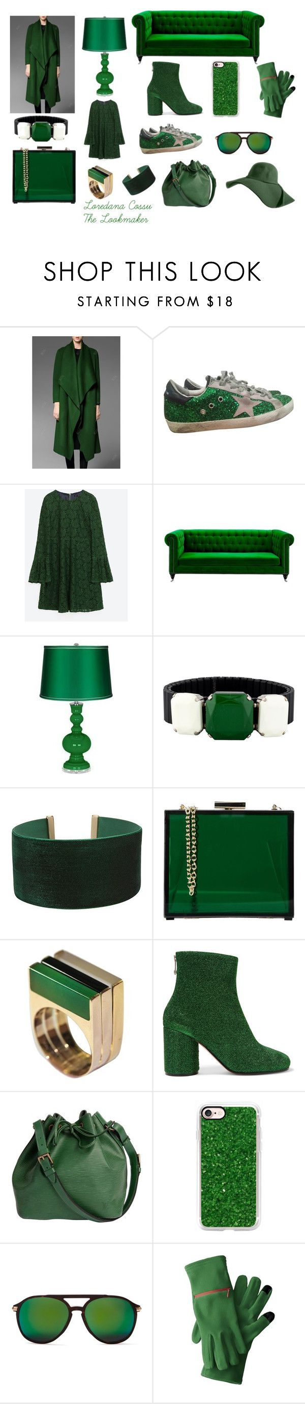 Lush Meadow VERDE SMERALDO by loredanacossu on Polyvore featuring moda, Maison Margiela, Golden Goose, Louis Vuitton, Oui, Odile!, Isabel Marant, ALDO, Wildfox and Casetify