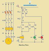 Esquemas eléctricos: Esquema eléctrico unifilar marcha y paro