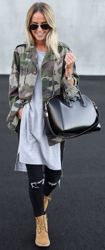 Camo Jacket Fall Inspo by By Kiki