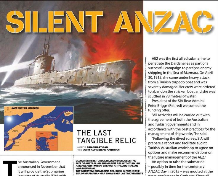 Australia's second submarine remembered. Published in issue #12, December 2006
