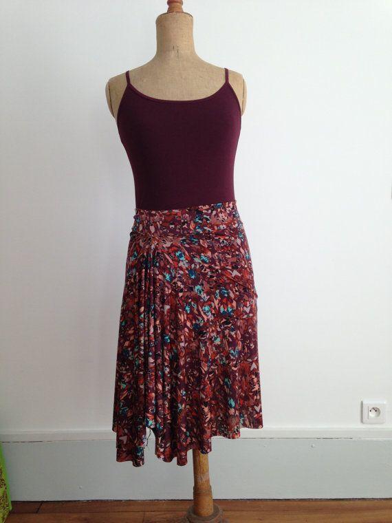 Beautiful front cascade tango skirt autumn love by BellaTango