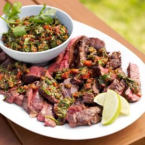 -inspired grilled steak recipe is flavored with a delicious herb ...