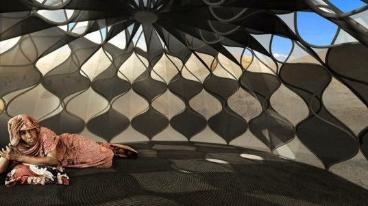 Beautiful Woven Refugee Tents Get Their Power from the Sun | Inhabitat - Green Design, Innovation, Architecture, Green Building