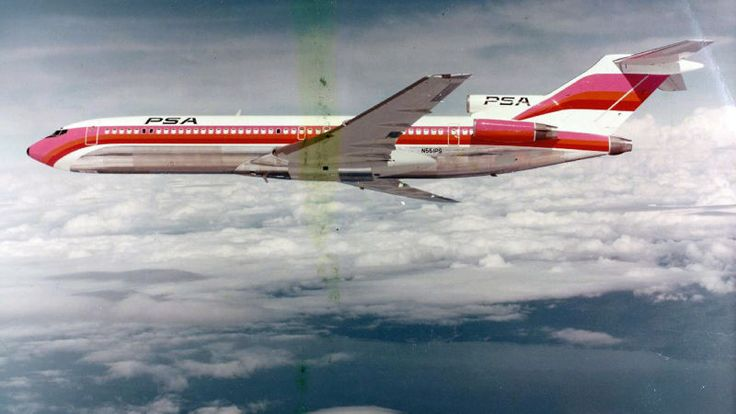Pacific Southwest Airlines Boeing 727, c197027 Stylish Airliner Liveries From The Past