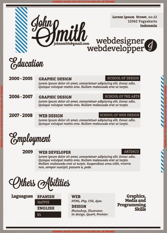 82 best Resume Templates \/ Plantillas images on Pinterest Free - graphic design resume template