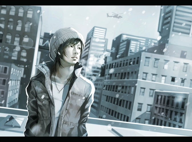 First Snow  by iya-chen (via anipan.com)