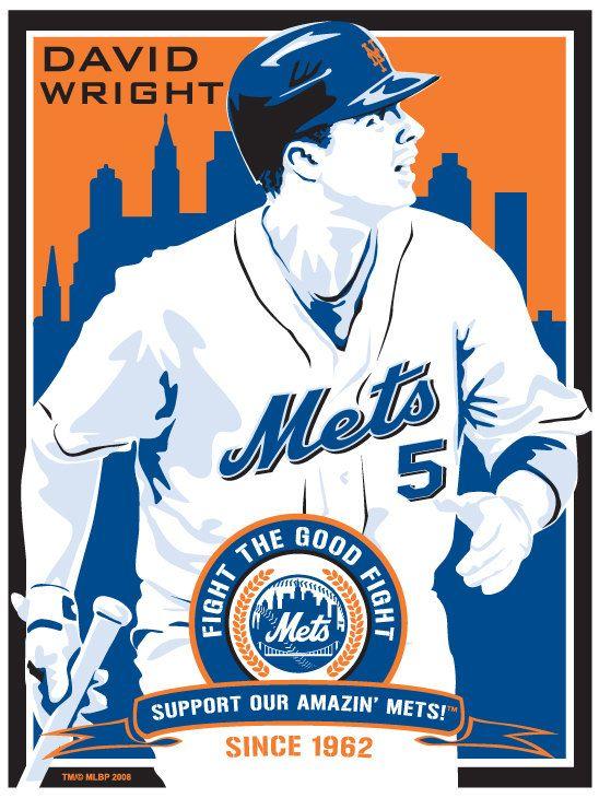 David Wright of the New york Mets - Baseball Screen Print.