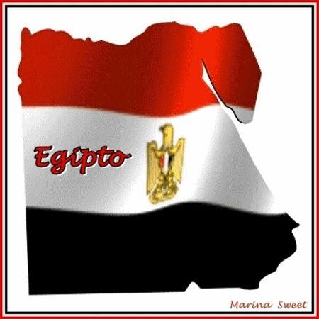 Bandera De Egipto Animada