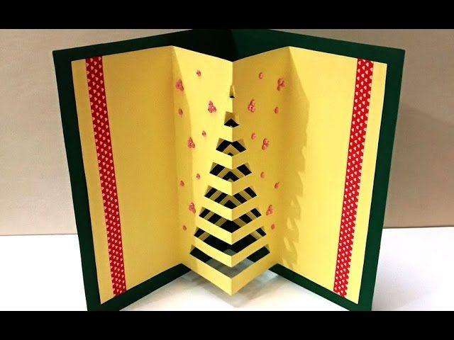 Diy Christmas Crafts How To Make Handmade 3d Pop Up Christmas Card Easy Diy X Mas Card Diy Christmas Cards Xmas Cards Handmade Christmas Cards Handmade
