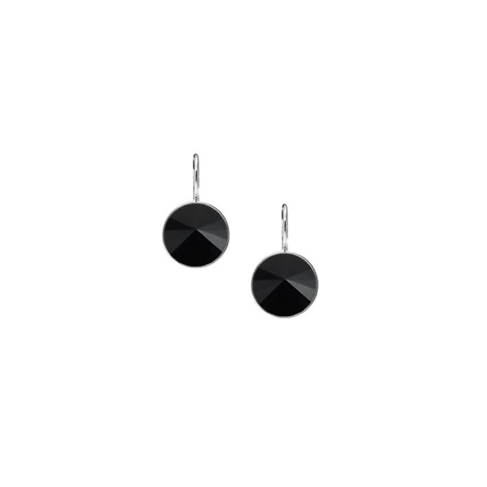 Miglio Designer Jewellery - Rivoli-cut Jet Black Swarovski Crystal Drop Earrings, R399.00 (http://miglio.co.za/rivoli-cut-jet-black-swarovski-crystal-drop-earrings/)