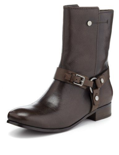 Autograph Leather Boots with Insolia Flex® - Marks & Spencer