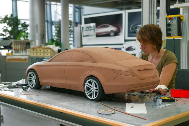 Mercedes-Benz CLS 1 4 Clay Model // by women modeller.