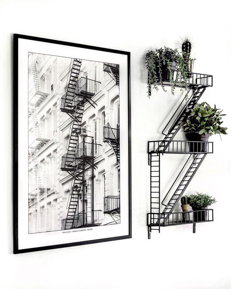Fire Escape shelf & Fire Escape poster