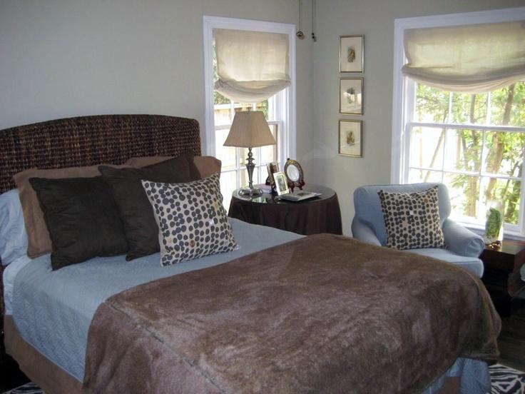 Brown and Blue Bedroom | bedroom makeover | Pinterest