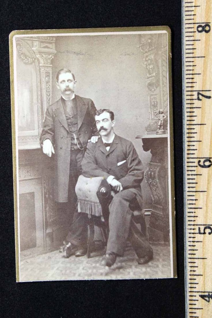 Antique CDV Photo of Two Gentleman with Mustaches Figurine Clinton MA | eBay