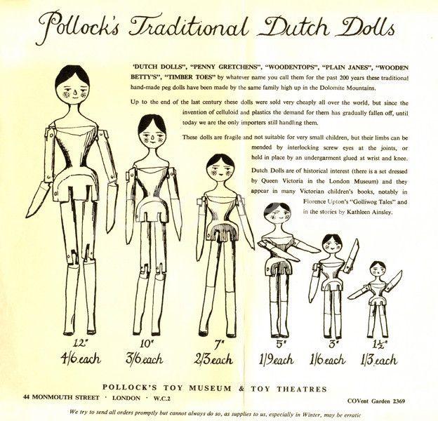Pollock's Traditional Dutch Dolls.