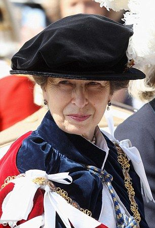 Princess Anne in her Order of the Garter robes