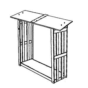 Montaggio Portalegna legnaia in legno