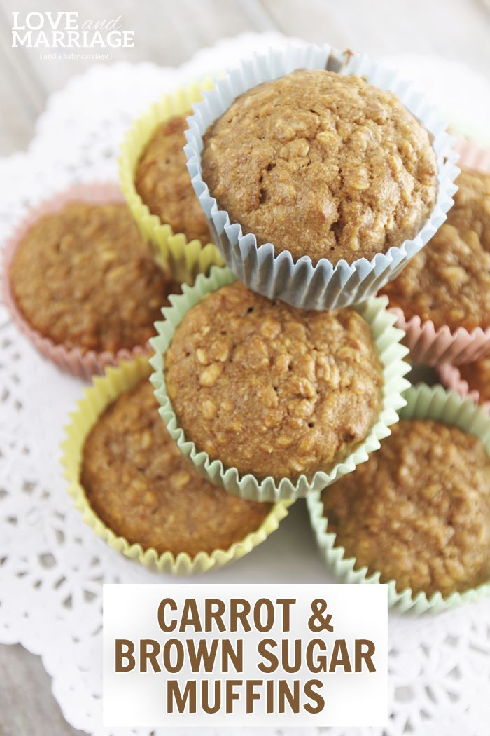 Incredibly healthy and delicious carrot and brown sugar muffins for kids.