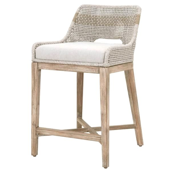 W 19 D 22 H 35 Features Benefits Interwoven Rope Pattern X Stretcher Base Designsolid Wood Framefixed Sea Counter Stools Furniture Kitchen Counter Stools