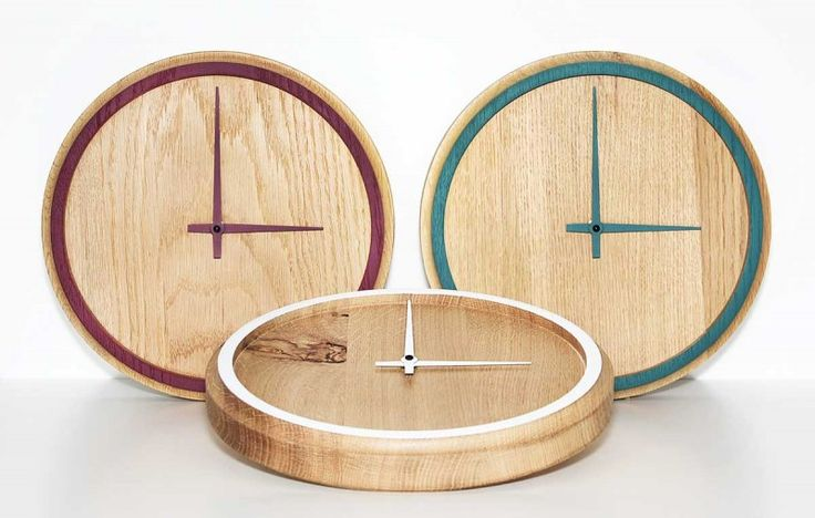 These wall clocks offer a pop of accent color