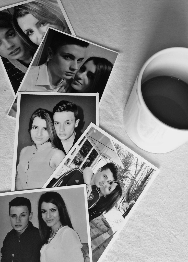 Coffee and memories/ photos/ black and white