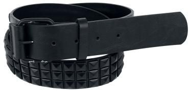 """""""Studded Belt"""" - zwart  Eindelijk een goede en stevige riem waarmee je borek nooit meer zal afzakken! De """"Studded Belt"""" is gemaakt van duurzaam kunstleer met piramidestuds en heeft een breedte van 3,7 cm. Uitzonderlijke stijl gegarandeerd!"""