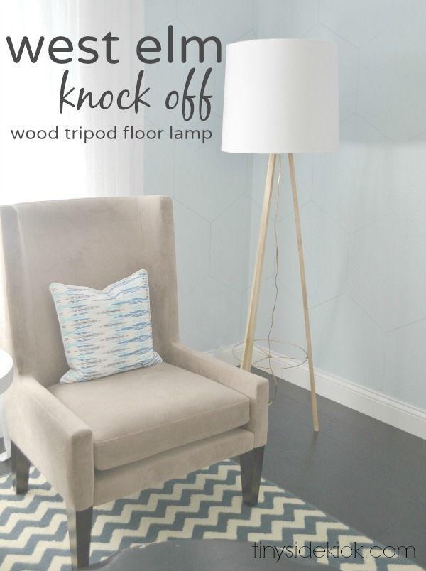 DIY West Elm Knock Off Tripod Floor Lamp