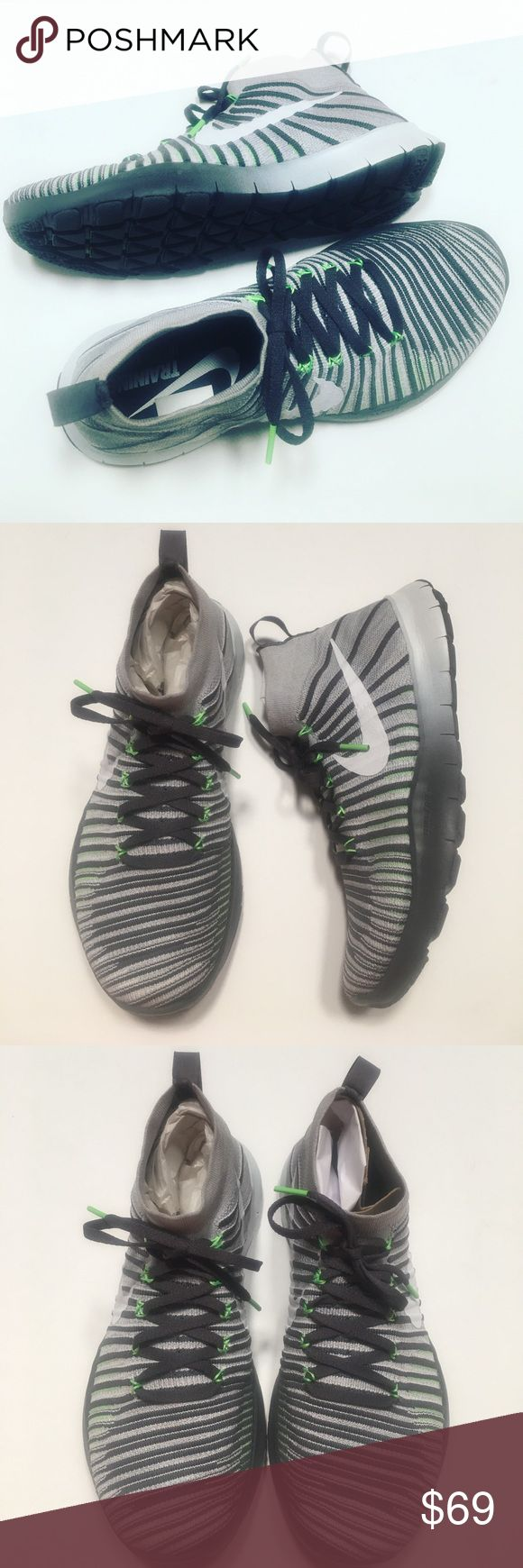 Nike Free Train Force Flyknit Designed for training. I purchased these to workout. I wear a size 11 in women's shoes but I am actually a 10 and a half. I can wear a size 9 in men's shoes but prefer a size 10. I go a size up because of the socks I wear and I just want lots of toe space when working out. These shoes are a size 10 but fit like a 9. Like new no visible flaws. So if you are a woman and wear a size 9 in men's sneakers these will be fine. If you are a man I recommend these only if…