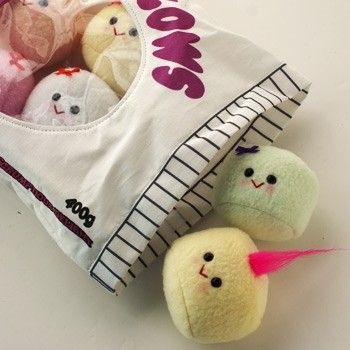 Handmade Gifts   Independent Design   Vintage Goods Bag Full-O-Marshmallows - Cute Cute Cute!