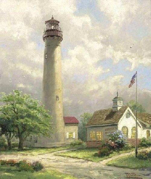 Lighthouse Pictures Thomas Kinkade | Let Me Buy