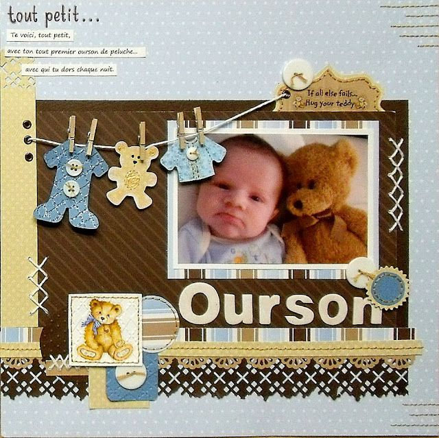 Our son scrapbook layout