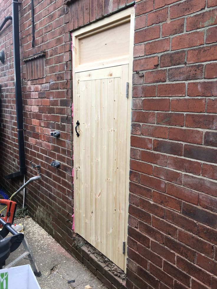 Bespoke External Wooden Door for External Storage. Designed & Fitted by TRT Joinery
