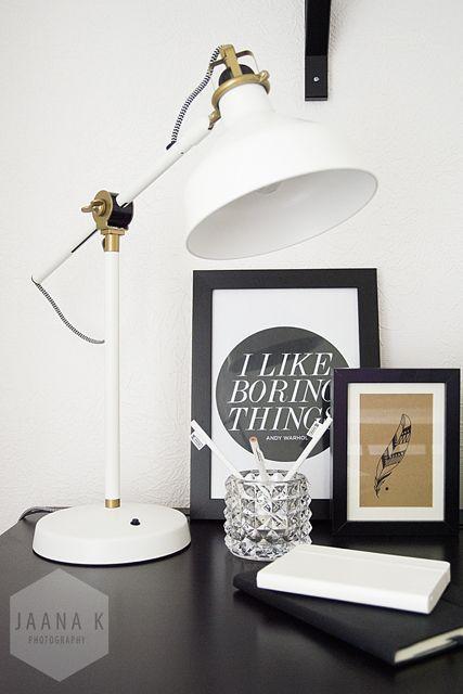 RANARP bureaulamp | Deze pin repinnen wij om jullie te inspireren. #IKEArepint #IKEA #IKEAnl #lamp #werkplek #bureau #zwart #wit #inspiratie
