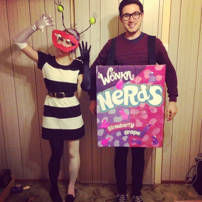 Ahh! Real Monsters Oblina  a box of Nerds. 90s party costumes!