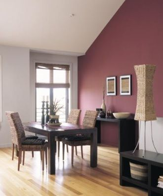 Define Your Dining Room Area With A Little Help From Dulux Paint (perhaps  Use The Pale Colour Above Dado Rail And Darker Red Below?