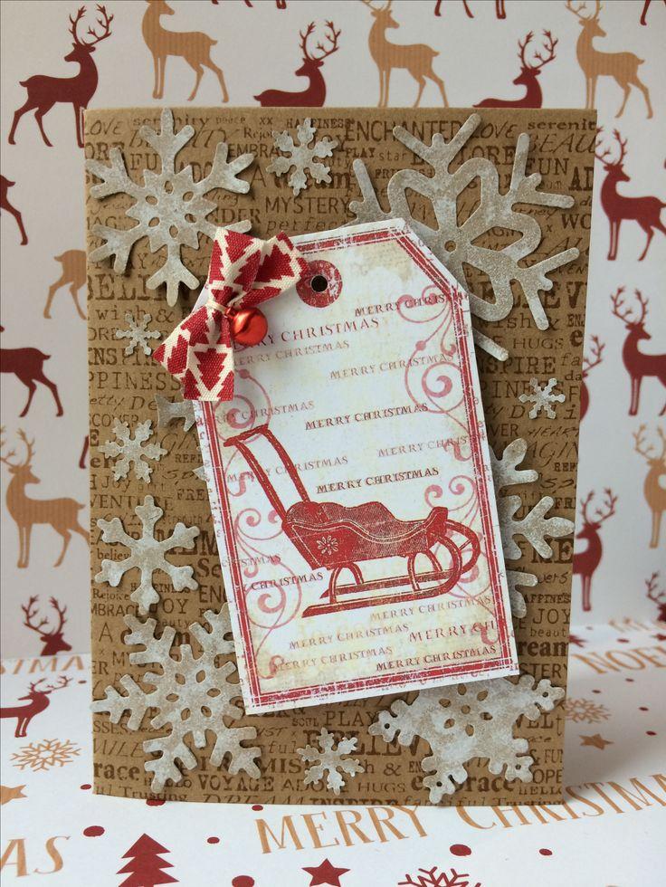 Christmas card vintage gift label