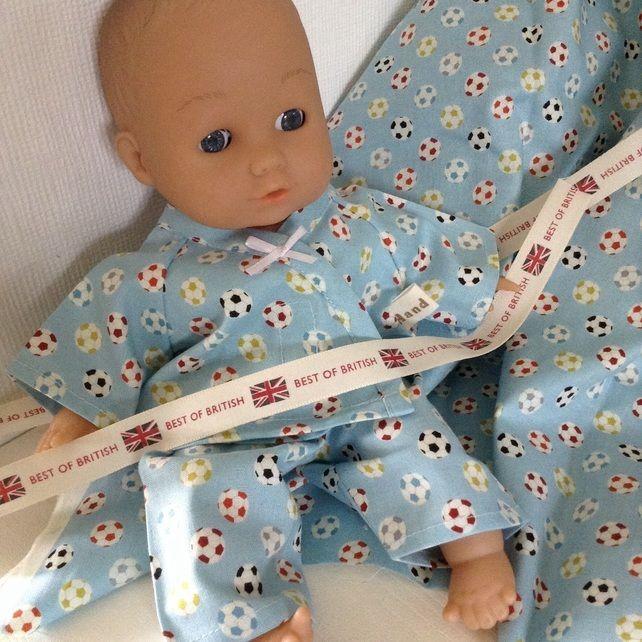 Dolls Clothes 30cm 12inch Pyjamas Corolle ELC Cupcake etc Hand Made £5.25