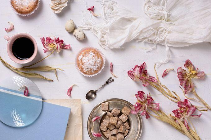 Romantic breakfast by Iuliia Leonova on @creativemarket