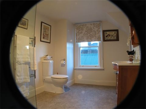 Upstairs bathroom  : with large shower