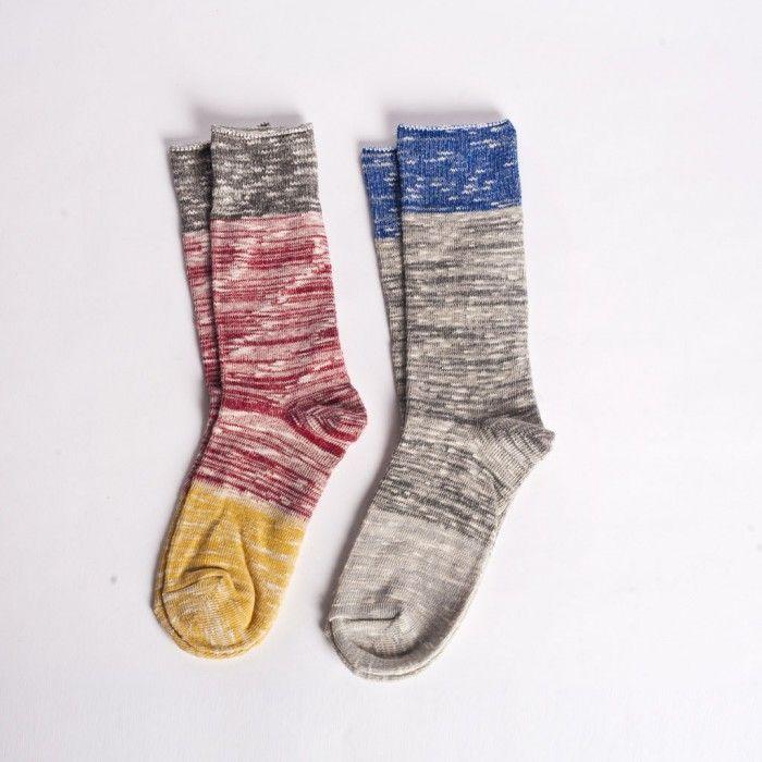 Colourblock Socks (2 Pack)