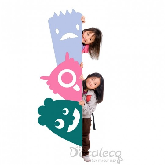 Monsters R Watching U - These friendly group of monsters is ideal for hallway corners or in your kid's room. www.decaleco.com #childrens_wall_art #monsters_wall_decal #decals_for_kids #bedroom_wall_decal #decor_stickers