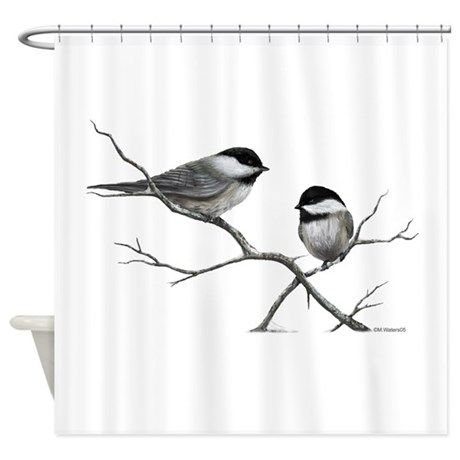 chickadee song bird Shower Curtain on CafePress.com