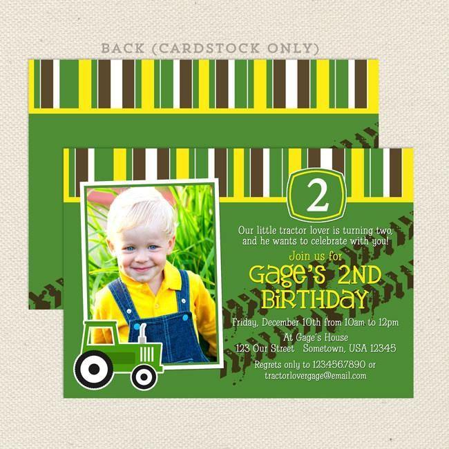 17 best John Deere Tractor Birthday images – John Deere Tractor Birthday Invitations